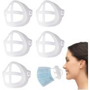 Kit 3 Suporte De Máscara 3d Respiração Silicone Conforto Top