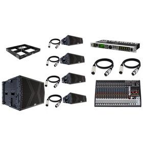 Kit Line Sonorização P/ Igrejas E Auditórios Mark Áudio Lmk6