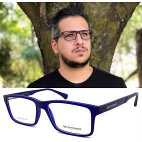 Armação Oculos Grau Masculino Ea3055 Armani Acetato Original c95725da17