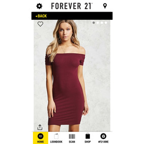 Forever 21 Vestidos Off The Shoulder Vino Tallas M L