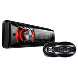 Auto Stereo X-view Ca1000rx Bt + Parlantes Gtz690 Usb Sd Bt