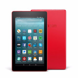 Nueva Tablet Amazon Kindle Fire 2018 Con Alexa Color Rojo
