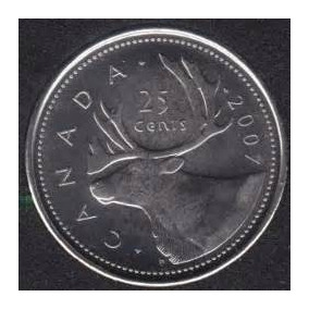 Moeda De Canada 25 Cents Do Ano De 2007!!