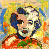 Retrato De Marilyn Monroe Por Jorge Calvo