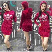 Vestido Adidas Veludo Lançamento Outono Inverno Kit C/ 3