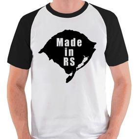 Camiseta Made In Rs Rio Grande Do Sul Camisa Blusa Raglan