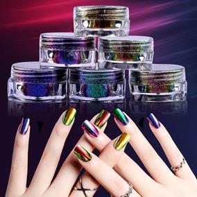 Polvo Efecto Camaleón Profesional 12 Colores Uñas Gelish