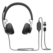 Headset Logitech Zone Wired Usb Auricular Mic Conferencia