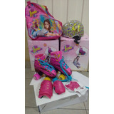Patines Soy Luna Con Luces + Asesorios+bolso