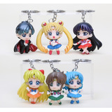 Set 6 Llaveros De Sailor Moon 5cm Figuras Anime