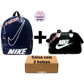 Bolsa E Mochila Nike Kit Com 2 Preto Azul Rosa Coloridas