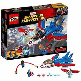 Lego 76076 Capitão America E Jato Perseguidor Marvel 160 Pcs