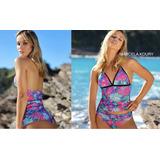 Bikini En Tricot Estampado De Tankini Con Vedetina. M Koury