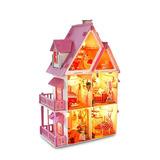 Casa Para Muñecas De 42cm De Alto, Hecha A Mano Romántica