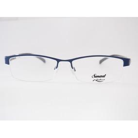 Armação Para Óculos Smart Retro Azul E Preta Feminina M409 9f203203ff