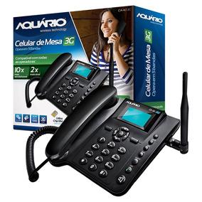 Ca-40 Telefone Celular Rural 3g De Mesa Aquário 5 Bandas Sms