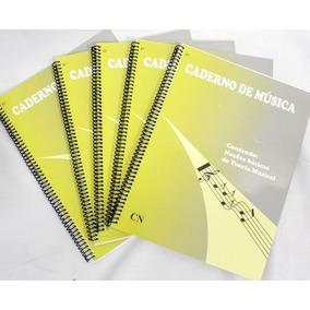 Caderno De Musica Grande 96 Páginas Universitário 5 Unidades
