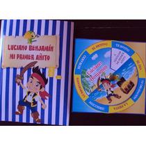 Tarjetas Bolsitas Banderin Personalizado Jake Y Los Piratas