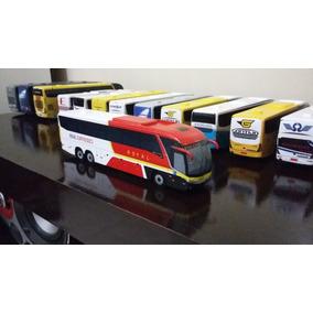 Miniatura De Ônibus Marcopolo G7 Artesanal Da Real Expresso