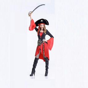 Fantasia Feminina Pirata Piratas Do Caribe Halloween M