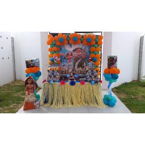 Faldón O Cubre Mesa Hawaiano Pool Party, Fiestas, Decoración