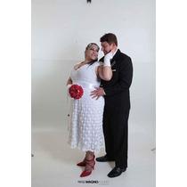 Vestido De Noiva Em Crochê! Acompanha Luvas