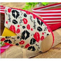 Zapatillas Suela Roja Besos Rojos Con Envio Gratuito