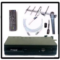 Kit Completo Tv Digital Tda Antena Ext Decodificador Garanti