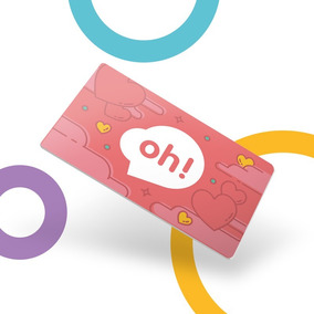 Tarjeta Oh! Gift Card $500 Con Holder Mujer
