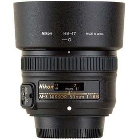 Lente Nikon 50mm F/1.8g Af-s Autofoco Original Case/ Parasol