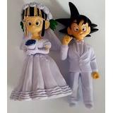 Figuras Goku Boda Pareja 10 12 Cm Pastel Muñecos Dragon Ball