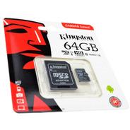Memoria Micro Sd Kingston 64gb Sdxc 80r Uhs-i Clase 10 Sd