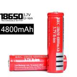 Pila Batería 18650 Recargable 3.7v 4800mah Li-ion Linterna