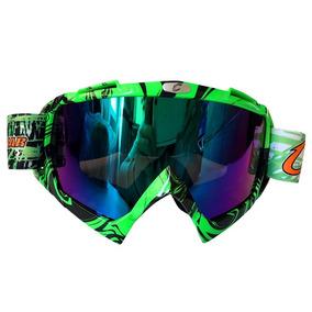 ea5e22584a24b Oculos De Motocross Verde Espelhado - Acessórios de Motos no Mercado ...