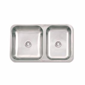 Mi Pileta 105ec - Pileta Cocina Doble Acero 64x37x15- 002926