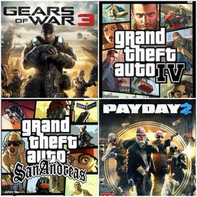 Gears 3. Payday 2. Gta 4. Gta San Andrés Xbox 360 Juegos
