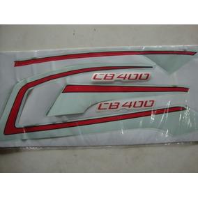 Jogo De Faixas Adesivo Honda Cb400 Azul Ano 84