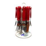 Juego Tenedores Cubiertos Cucharas Cuchillos 24 Piezas Sl