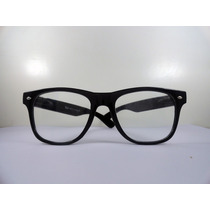 Armaçao De Oculos De Grau Wayfarer Blackpiano Lente Incolor