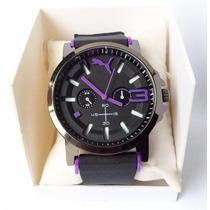 Relógio Puma Pulseira Silicone Preta Esportivo Masculino