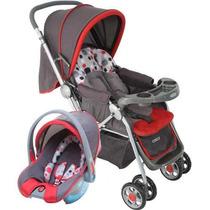 Carrinho + Bebê Conforto System Ts Reverse Vermelho - Cosco