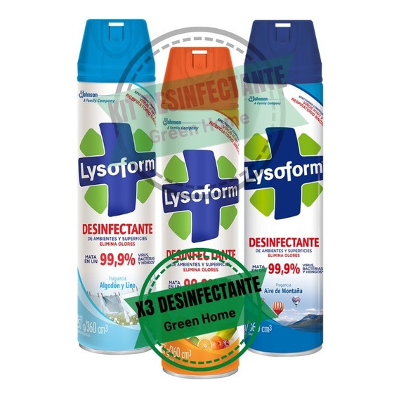 Set X3 Lysoform Antibacterial Grande 360 Cc  Palermo