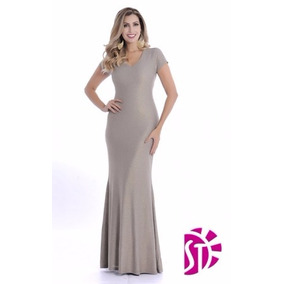 Vestido-longo-de-lurex Loja Ksaia Moda Evangélica