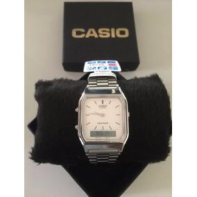 521b897b85a Relógio Casio (twincept) Analógico E Digital (modelo Aqx 11) De Luxo ...