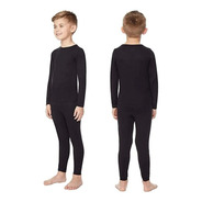 Conjunto Termico Niño Calza+remera Camiseta No Friza Niña