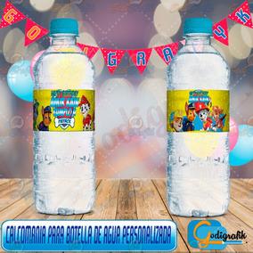 Etiquetas Personalizadas Para Botellas De Agua Paw Patrol
