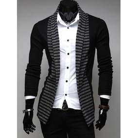 Sweater Hombre Largo Slim Fit Moda Casual Sin Botones Cómodo