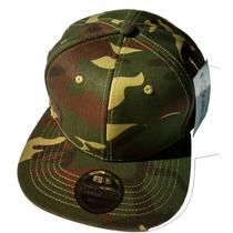 Boné Camuflado Exército Verde Aba Reta Militar Importado Top