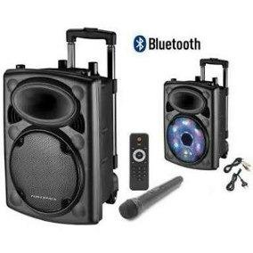 Caixa Som Amplificada 350 Wrms Bluetooth 2 Microfone