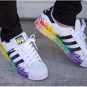 adidas superstar zapatos blancas